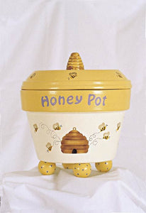 """Honey Pot"" - Flower Pot Stencil"