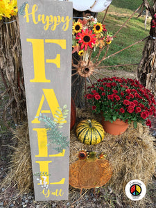 "IN PERSON CLASS to make ""Welcome"" or ""Happy Fall Y'all"" Porch Sign OCT 17th"