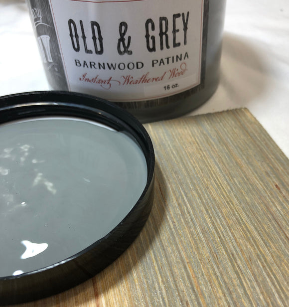 Old & Grey Barnwood Patina | DIY Paint Co