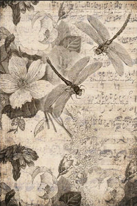 Roycycled Decoupage Paper - Musical Dragon Flies