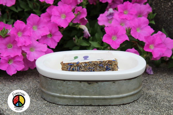 Porcelain Tub Soap Dish