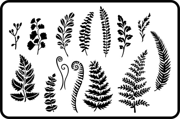 JRV Ferns and Greenery Stencil