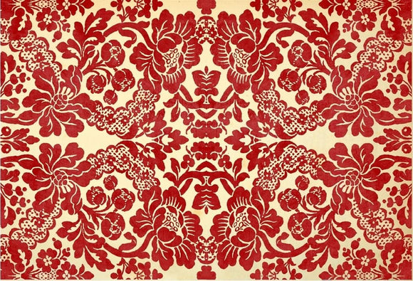 Roycyled Decoupage Paper - Red Damask
