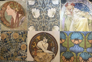 Roycycled Decoupage Paper - Art Nouveau Block