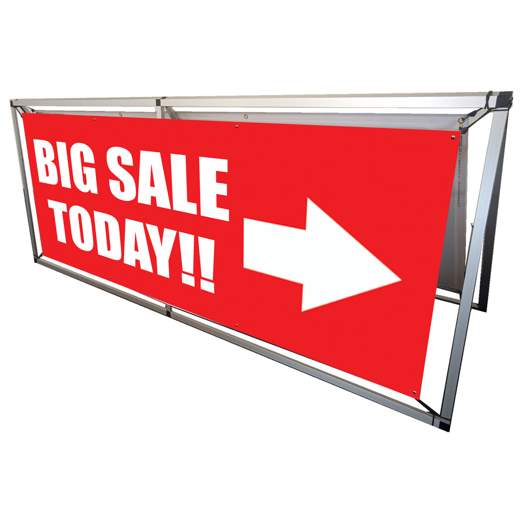 NEW - 2-Sided Outdoor Banner Display - 8ft x 3ft