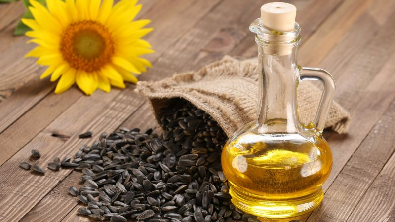 using sunflower oil