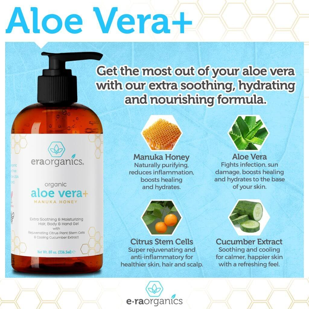 Natural Aloe Vera Gel for Face, Hands & Body