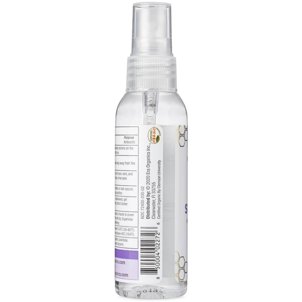certified organic hand sanitizer spray
