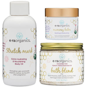 Mommy Bundle: Stretch Mark Oil, Breastfeeding Balm & Epsom Salts