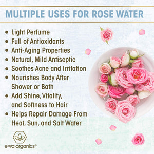 Organic Rose Water Spray and Face Toner