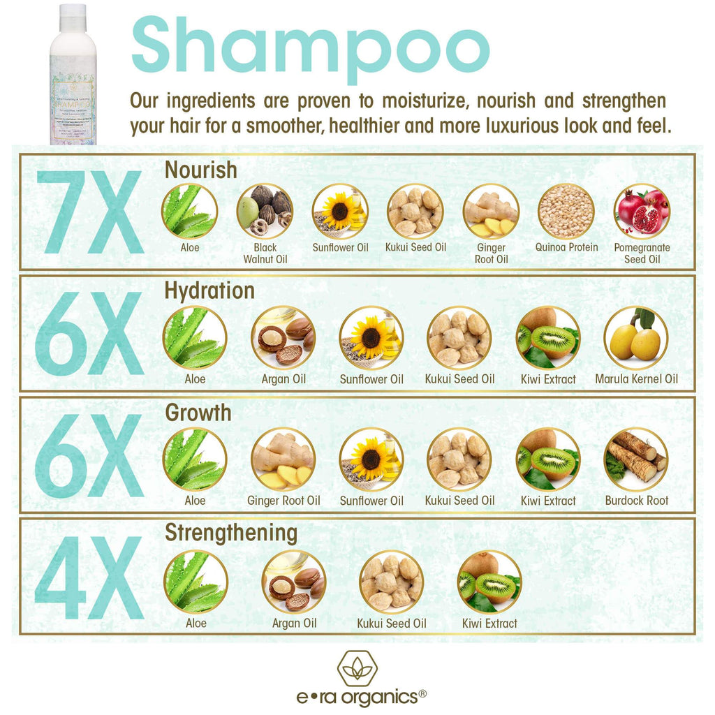 all natural shampoo ingredient uses