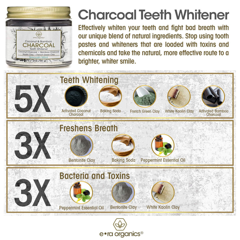 uses of charcoal teeth whitener ingredient list