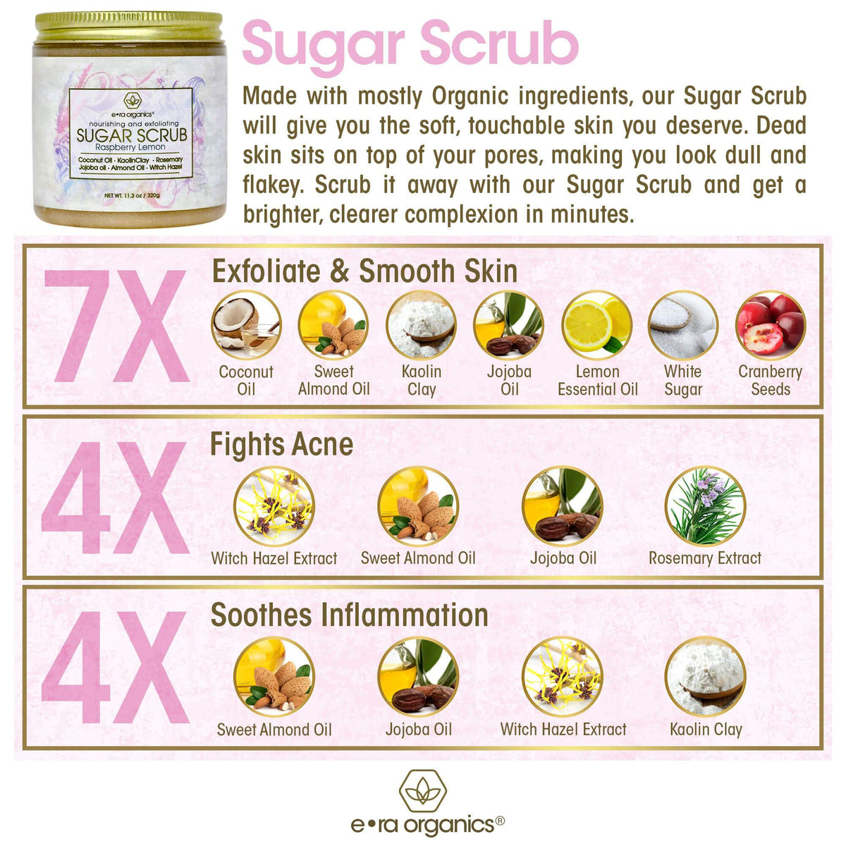 exfoliating sugar scrub ingredients