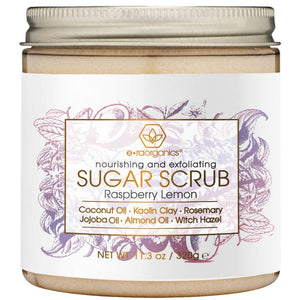 natural exfoliating sugar scrub