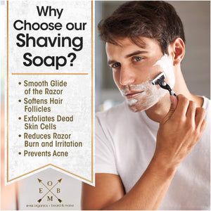 mens natural shaving soap
