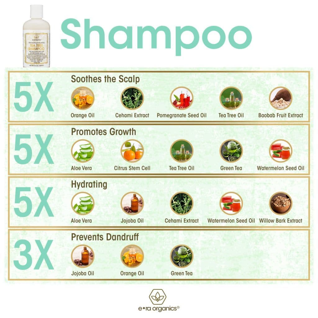 Natural Tea Tree Oil Shampoo with Plant Stem Cell Technology