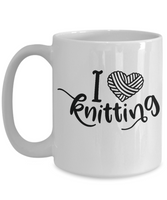 I Love Knitting Coffee Mug