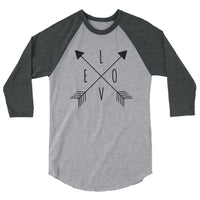 LOVE Arrow-Style 3/4 Sleeve Raglan Shirt