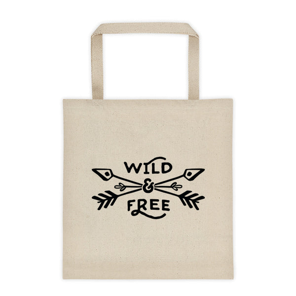Wild & Free Canvas Tote Tote Bag