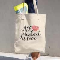All You Knit is Love Cotton Tote Bag