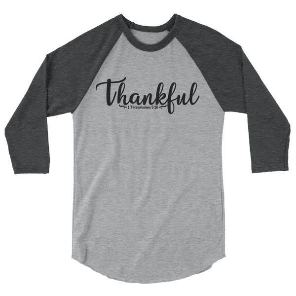 Thankful 3/4 Sleeve Raglan Shirt