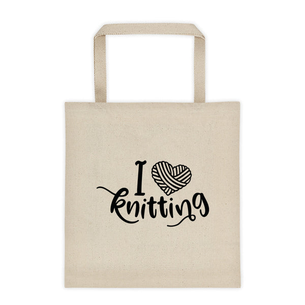 I Love Knitting Canvas Tote Bag