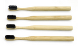 EcoPro Toothbrush Years Supply (4 EACH) - Charcoal Bristle with Bamboo Handle