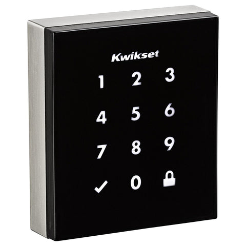 Kwikset Obsidian Keyless Touchscreen Electronic Deadbolt in Satin Nickel