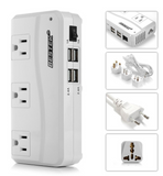 Power Adapter 4 USB Port With UK / US / AU / EU Plug