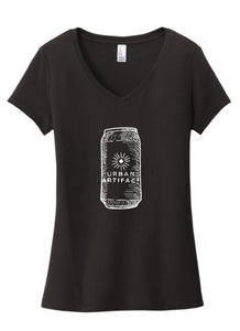 "Ladies ""Beer Can"" V neck shirt"