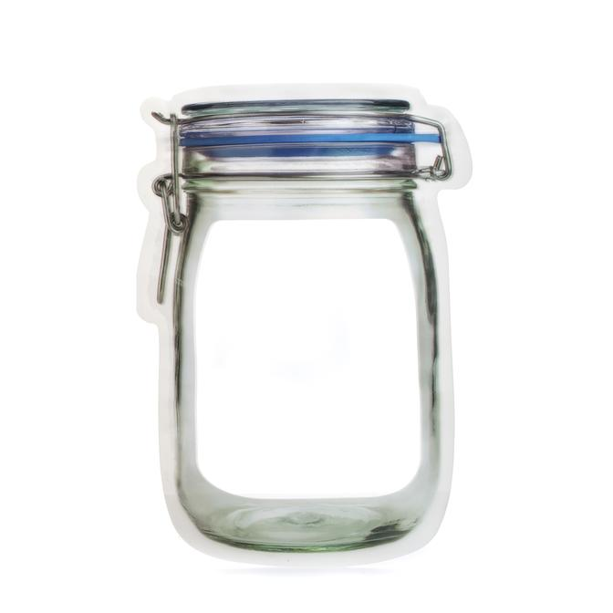 Mason Jar Zipper Bags - Large