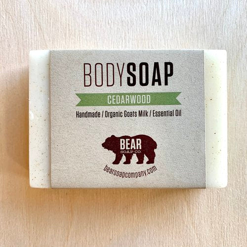 bear soap co cedar wood body soap