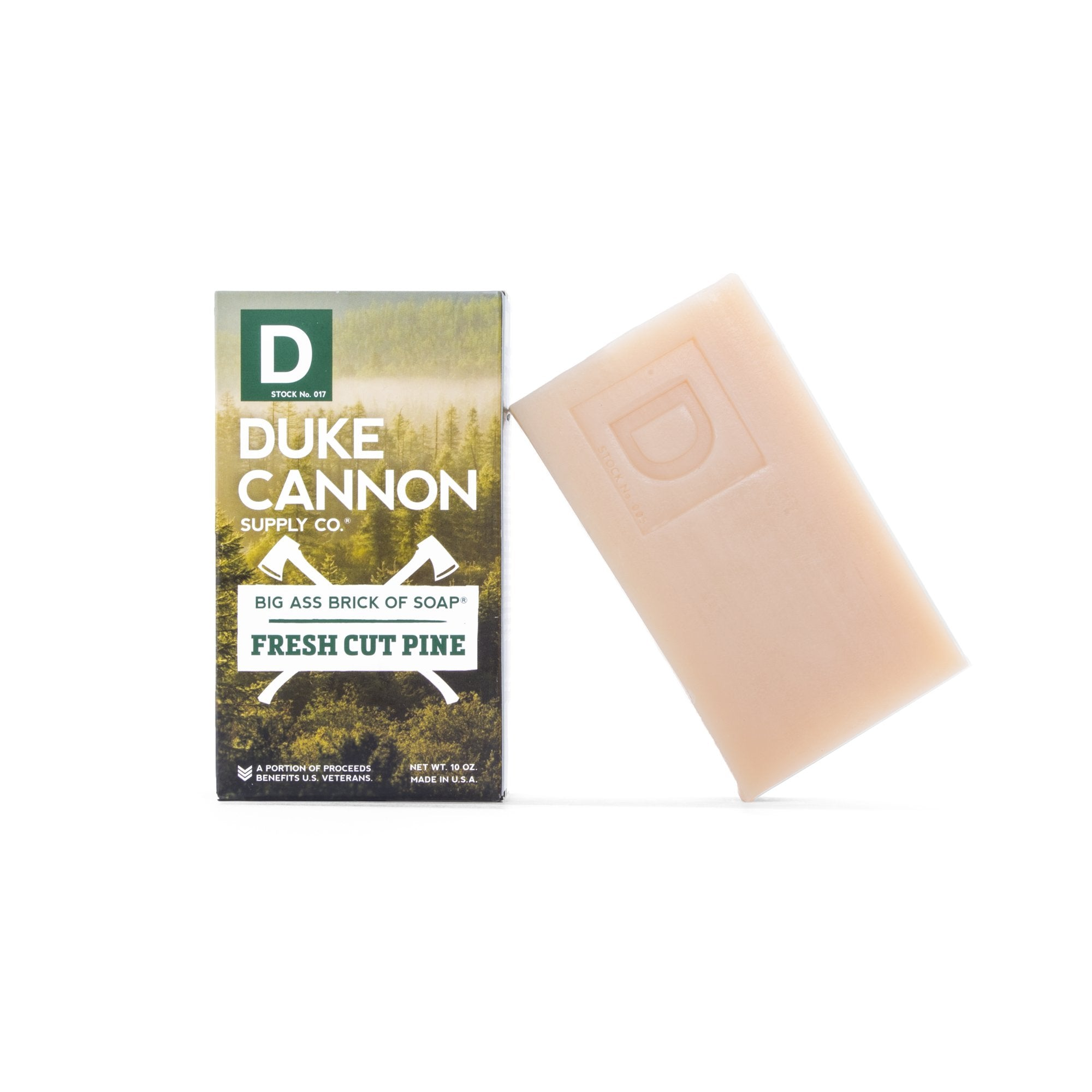 duke cannon big ass brick bar of soap leaf and leather