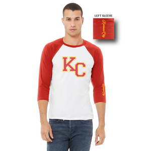 KC Tee 3/4 Sleeve Red/White