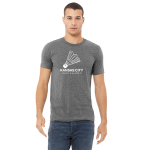 athletic grey kc shuttlecock tee
