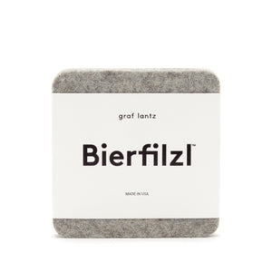 Granite Bierfilzl Square Felt Coaster