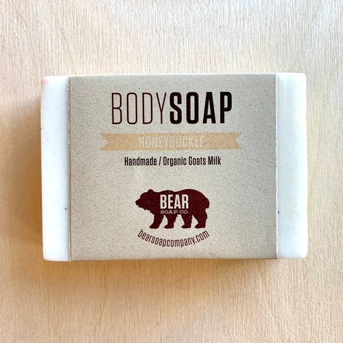 bear soap co honeysuckle