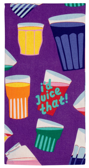blue q dish towel juice that