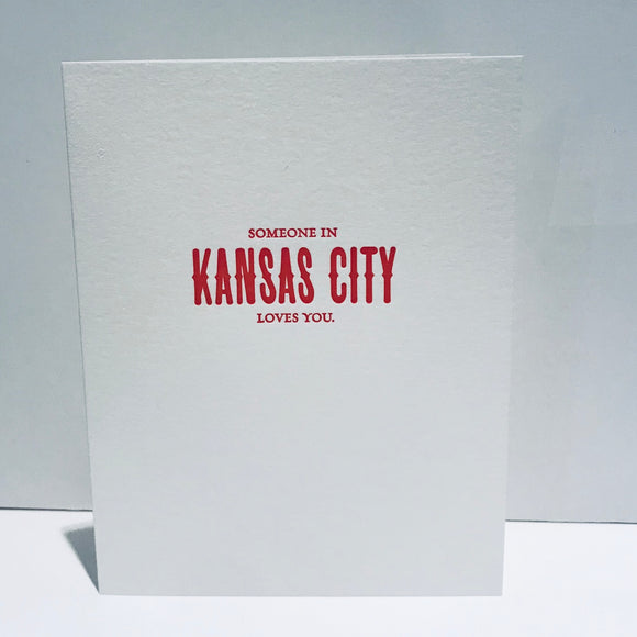 city limits greeting card someone in kansas city loves you