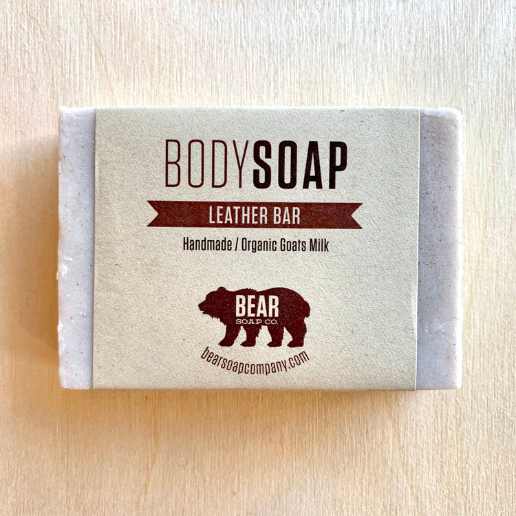 bear soap co body wash leather bar