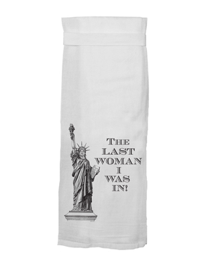 Hang Tight Dish Towel - Statue of Liberty