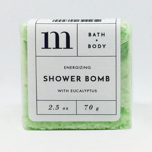 mixture shower bomb energizing with eucalyptus
