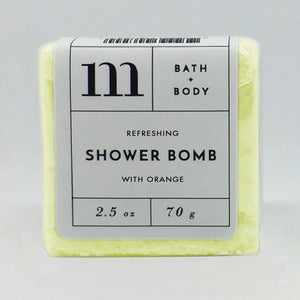 mixture shower bomb refreshing with orange