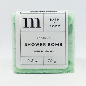 mixture shower bomb soothing with rosemary