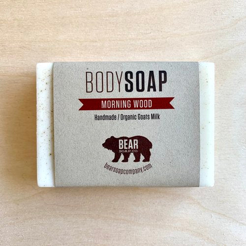 bear soap co body soap morning wood