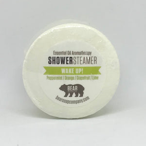 bear soap co shower steamer wake up