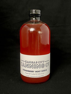 kansas city canning co strawberry mint shrub cocktail mixer