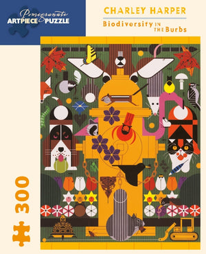 "Charley Harper ""Biodiversity in the Burbs"" 300-Piece Jigsaw Puzzle"