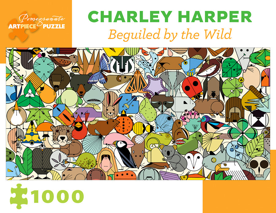 Charley Harper Beguiled by the Wild 1000-Piece Jigsaw Puzzle