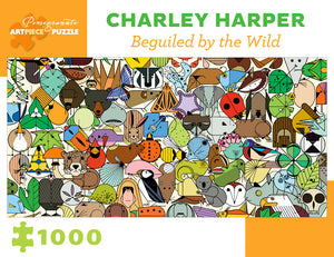 "Charley Harper ""Beguiled by the Wild"" 1000-Piece Jigsaw Puzzle"